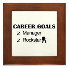 Manager Career Goals - Rockstar Framed Tile