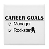 Manager Career Goals - Rockstar Tile Coaster