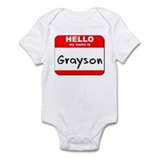 Hello my name is Grayson Infant Bodysuit