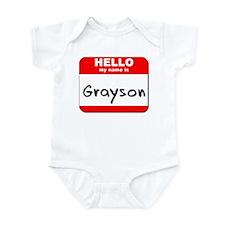 Hello my name is Grayson Onesie