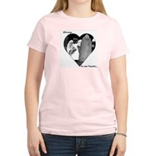 """Always in Our Hearts"" Angel Women's Pink T-Shirt"