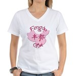 Fengdu Girl Women's V-Neck T-Shirt