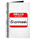 Hello my name is Giovanni Journal