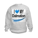 I Love My Dalmation Kids Sweatshirt