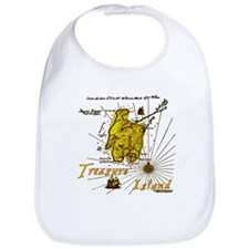 Gold Treasure Island Bib