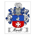 Morelli Family Crest Small Poster