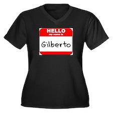 Hello my name is Gilberto Women's Plus Size V-Neck