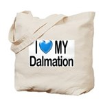 I Love My Dalmation Tote Bag