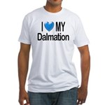 I Love My Dalmation Fitted T-Shirt