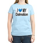 I Love My Dalmation Women's Pink T-Shirt
