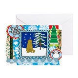 Scrapbook Scottish Fold Christmas Greeting Card