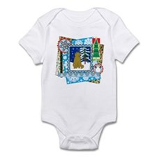 Scrapbook Scottish Fold Christmas Infant Bodysuit