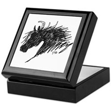 Horse Head Art Keepsake Box