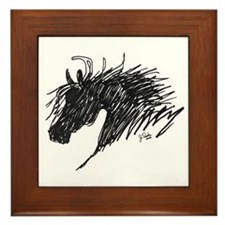 Horse Head Art Framed Tile
