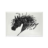 Horse Head Art Rectangle Magnet (100 pack)