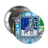 "Scrapbook Russian Blue Christmas 2.25"" Button (10"
