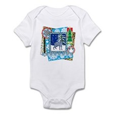 Scrapbook Russian Blue Christmas Infant Bodysuit