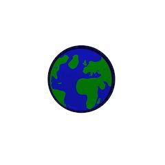Earth Mini 1 inch Button