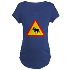 Moose Crossing Sign T-Shirt