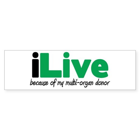 iLive Multi Organ Bumper Sticker