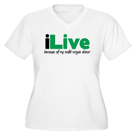 iLive Multi Organ Women's Plus Size V-Neck T-Shirt