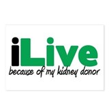 iLive Kidney Postcards (Package of 8)