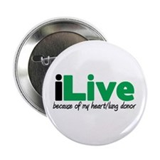 "iLive Heart/Lung 2.25"" Button"