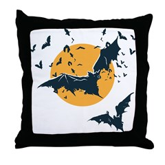 Vampire Bats Throw Pillow