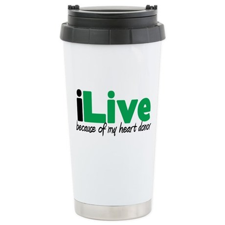 iLive Heart Ceramic Travel Mug