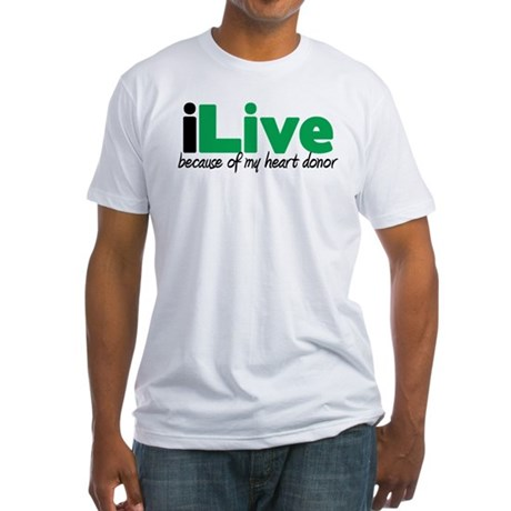 iLive Heart Fitted T-Shirt