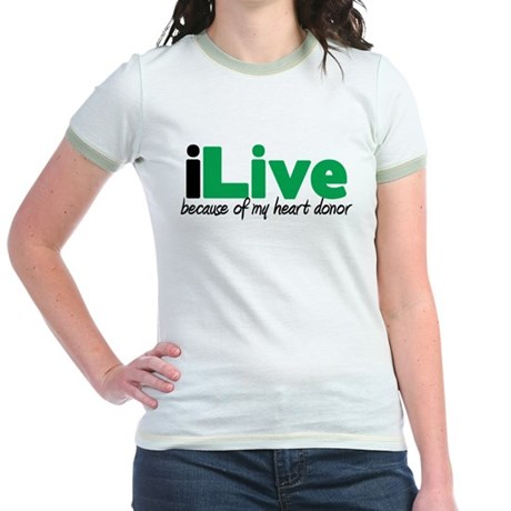 iLive Heart Jr. Ringer T-Shirt