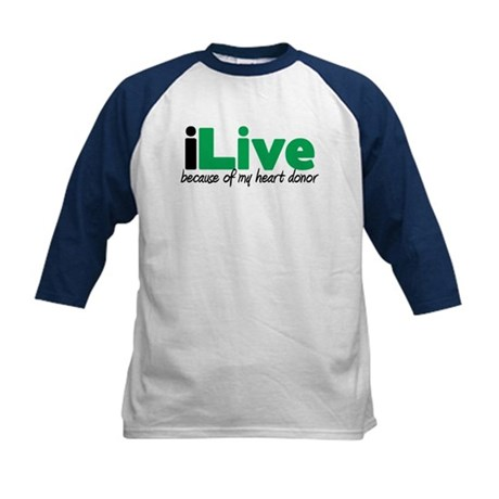iLive Heart Kids Baseball Jersey