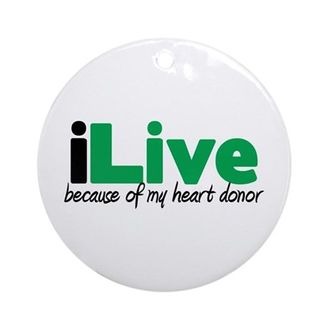 iLive Heart Ornament (Round)