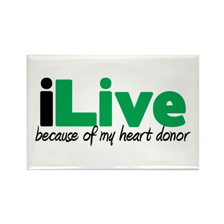 iLive Heart Rectangle Magnet (10 pack)