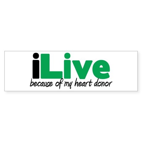 iLive Heart Bumper Sticker