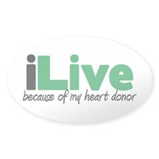 iLive Heart Oval Decal