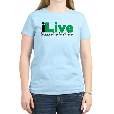 iLive Heart Women's Light T-Shirt