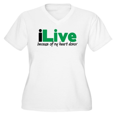 iLive Heart Women's Plus Size V-Neck T-Shirt