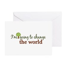 I'm Going to Change the World Greeting Cards (Pk o