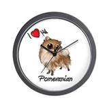 I Heart Love My Pom Wall Clock