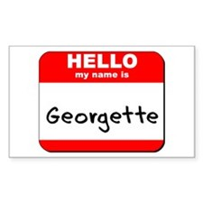 Hello my name is Georgette Rectangle Decal