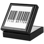Tile Setter Barcode Keepsake Box