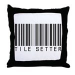 Tile Setter Barcode Throw Pillow