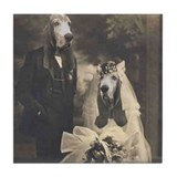 Basset VINTAGE WEDDING Tile Coaster