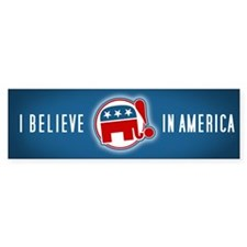 """I Believe in America"" Bumper Bumper Sticker"