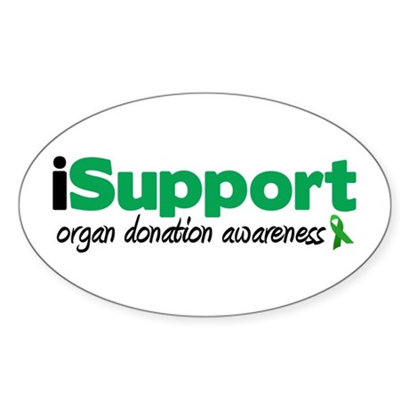 iSupport Transplants Sticker (Oval 10 pk)