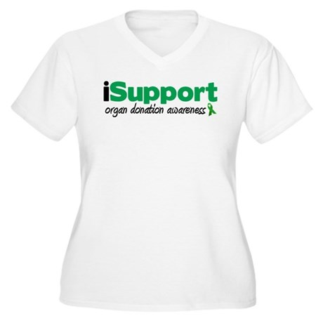 iSupport Transplants Women's Plus Size V-Neck T-Sh
