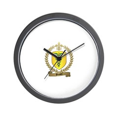 BOISSEL Family Crest Wall Clock