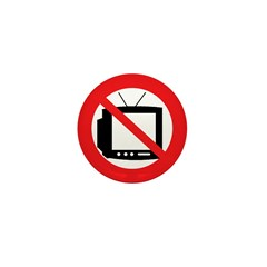 Anti-TV Mini Button (10 pack)