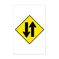 Two-Way Traffic Sign - Posters